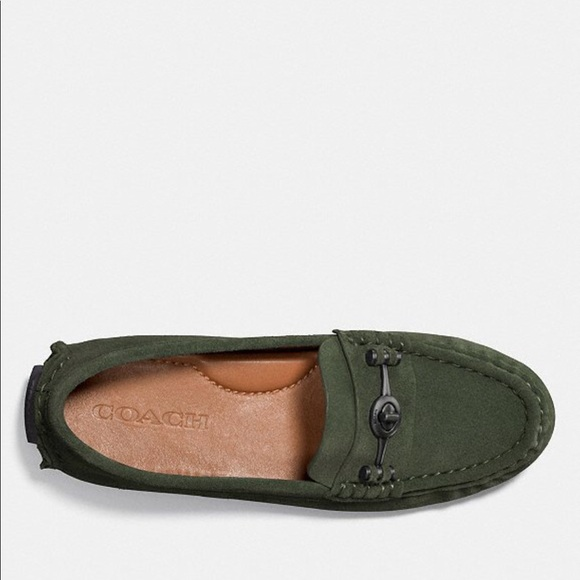 4cea0a7ef84 COACH Crosby Driver Olive Loafer Casual Flat
